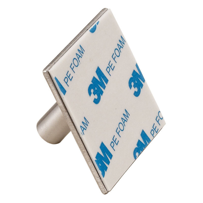 Single adhesive metal hook