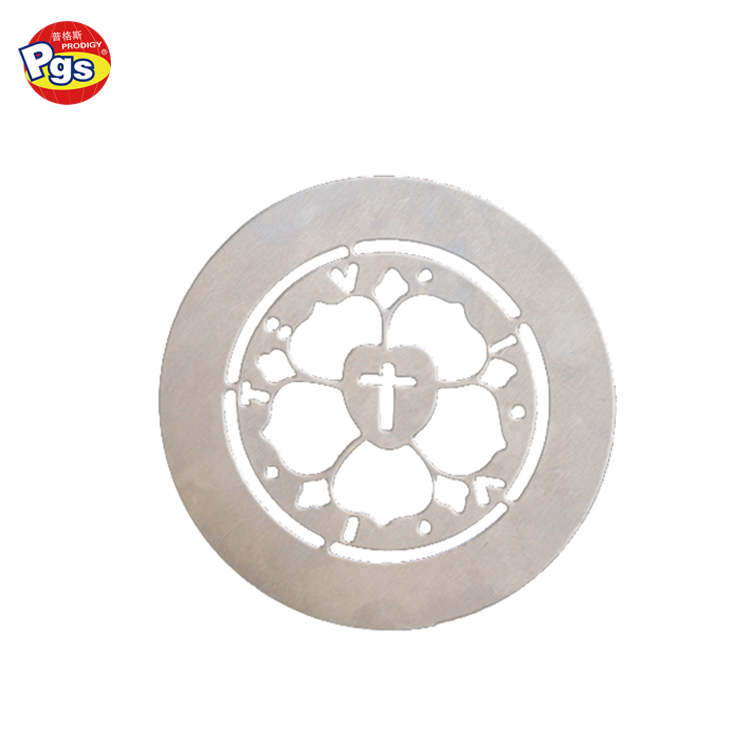 100mm Round shape 430 stainless steel coffee stencil