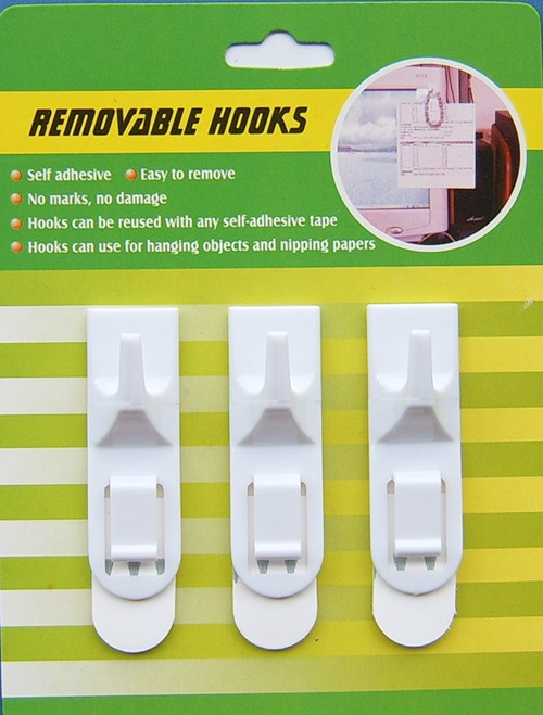 adhesive plastic hooks with clip