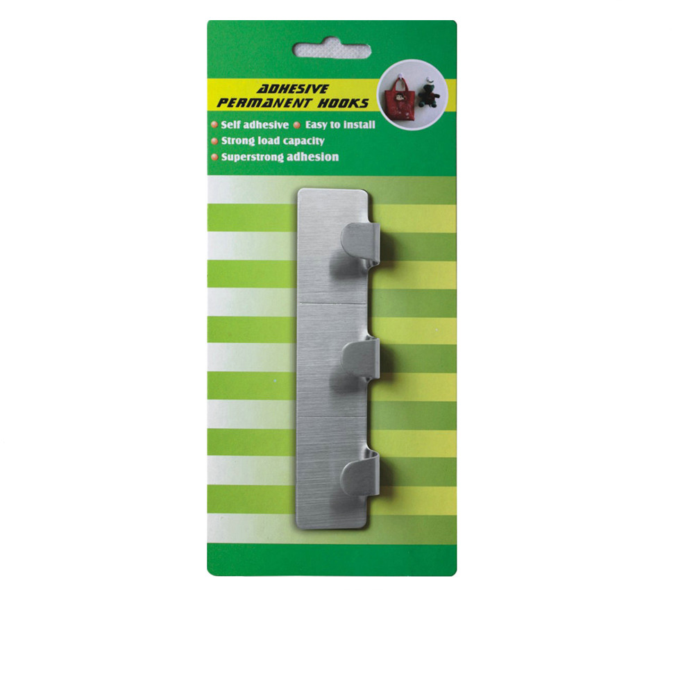adhesive metal hook