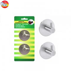 Adhesive round stick on wall bathroom holder hook