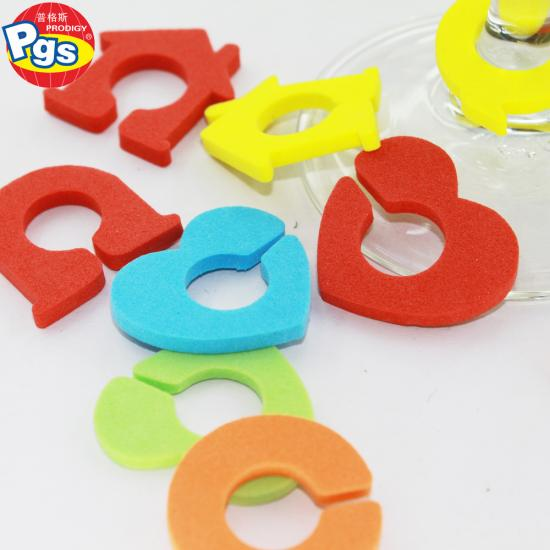 silicone colorful drink identifiers Glass Markers