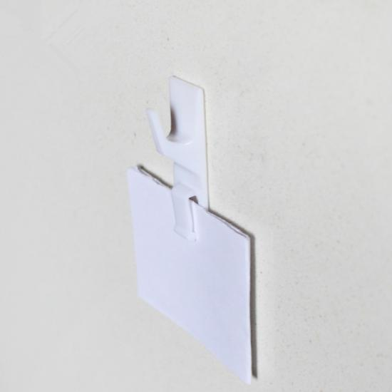 wall mounted hook with wire clip