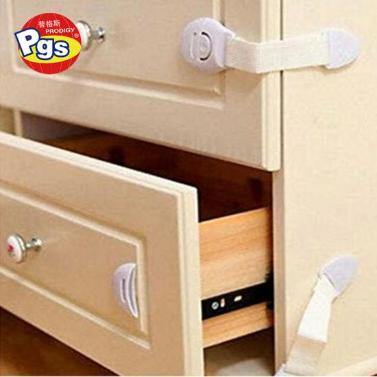 Multi function white color factory direct sales ABS nylon safety lock for drawer