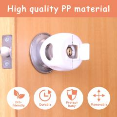 baby safety products round PP door handle lock