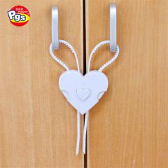 Factory directly sales white heart shape child care ABS PE material secure flexi lock