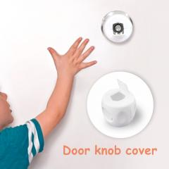 White Color PP Material Factory Sales Blister Card Package Door Knob Cover For Child