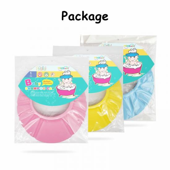 2021 New Product EVA Plus Buckle Colorful Baby Shampoo Cap For Bathroom